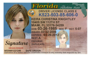 Here's A Sample Of A Fake Florida Id Card That's Solda With Regard To Florida Id Card Template