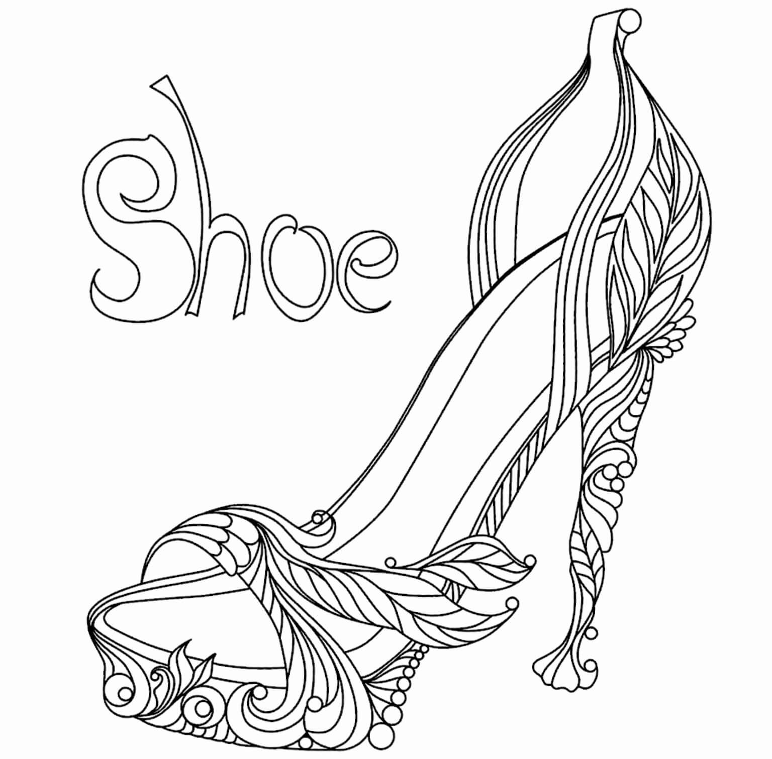 High Heel Drawing Template At Paintingvalley | Explore Inside High Heel Shoe Template For Card