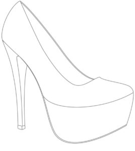 High Heel Drawing Template At Paintingvalley | Explore inside High Heel Template For Cards