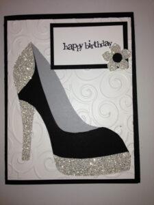 High Heel Shoe Card – Birthday Tanya Bell's High Heel Shoe regarding High Heel Shoe Template For Card