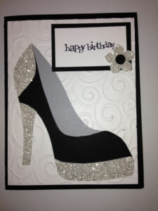 High Heel Shoe Card – Birthday Tanya Bell's High Heel Shoe Regarding High Heel Template For Cards