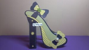 High Heel Shoe Card | The Sewgood Crafter throughout High Heel Shoe Template For Card