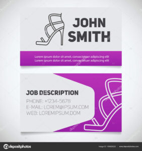 High Heel Template To Print | Business Card Print Template Regarding High Heel Template For Cards
