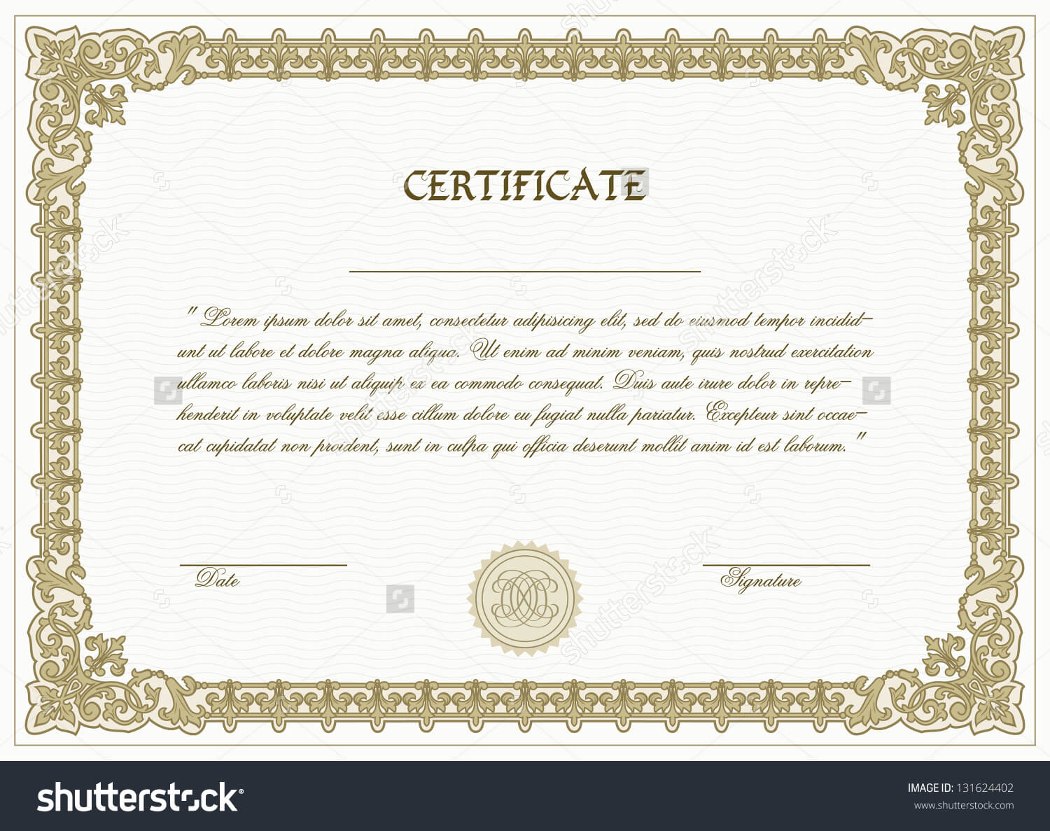 High Resolution High Res Printable Certificate Template Download Inside High Resolution Certificate Template