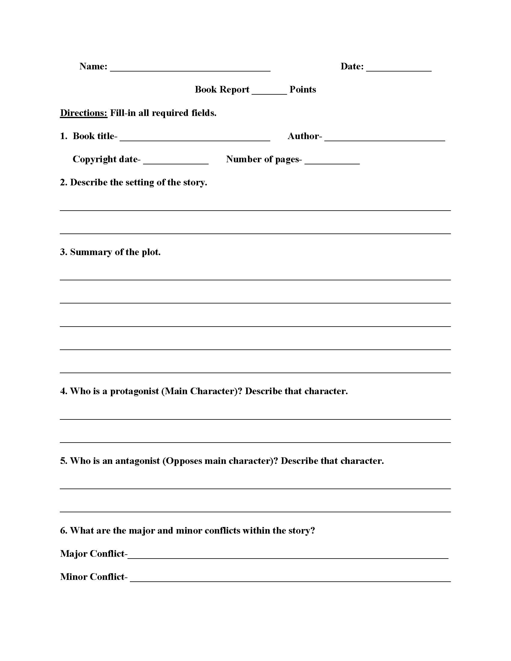 High School Book Report Worksheets | Education | High School Intended For High School Book Report Template
