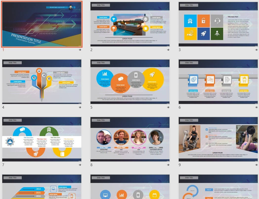 High Tech Powerpoint Template #44163 - Sagefox Free Intended For High Tech Powerpoint Template