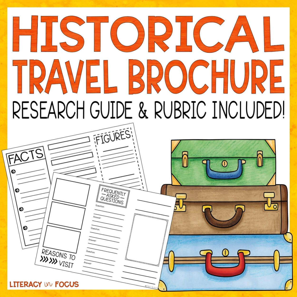 Historical Travel Brochure And Research Project | Literacy Intended For Brochure Rubric Template