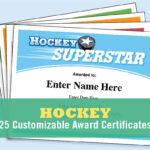 Hockey Certificates Editable , Kid Certificates, Child, Hockey Mom, Team  Parent, Hockey Coach, Award Certificates Templates, Hockey Hair Pertaining To Hockey Certificate Templates