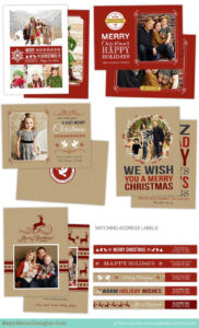 Holiday Card Photoshop Templates For Photographers for Holiday Card Templates For Photographers