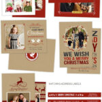 Holiday Card Photoshop Templates For Photographers In Christmas Photo Card Templates Photoshop