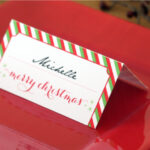 Holiday Place Card Diy Printable with regard to Table Name Cards Template Free