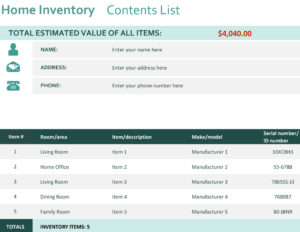 Home Inventory intended for Share Certificate Template Companies House