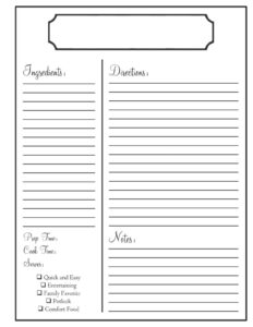 Home | Need To Know | Recipe Book Templates, Recipe Template regarding Full Page Recipe Template For Word