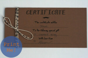 Homemade Gift Vouchers Templates – Top Image Gallery Site intended for Homemade Gift Certificate Template