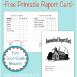 Homeschool Report Cards – Flanders Family Homelife For Character Report Card Template