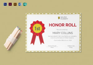 Honor Roll Certificate Template pertaining to Honor Roll Certificate Template