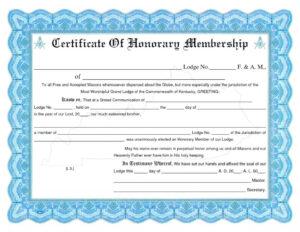 Honorary Membership Certificate Template Word throughout Llc Membership Certificate Template