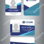 Horizontalvertical Id Card Design | Employee Id Card | Id For Employee Card Template Word