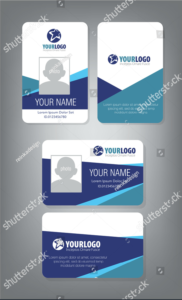 Horizontalvertical-Id-Card-Design | Employee Id Card | Id for Employee Card Template Word