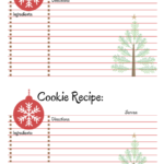 Host A Cookie Exchange Party | The Top Pinned | Printable In Cookie Exchange Recipe Card Template