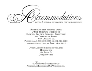 Hotel Accommodation Cards – Google Search | Wedding with Wedding Hotel Information Card Template