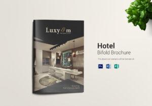Hotel And Motel Bi Fold Brochure Template Throughout Hotel Brochure Design Templates