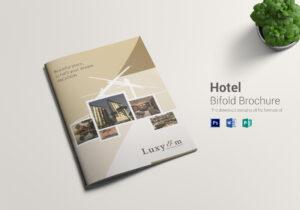 Hotel Bi Fold Brochure Template With Hotel Brochure Design Templates