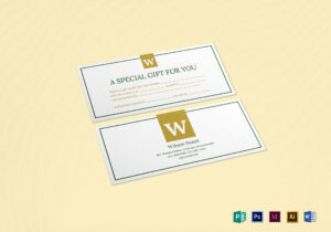 Hotel Gift Certificate Template for Indesign Gift Certificate Template