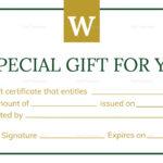 Hotel Gift Certificate Template Regarding Gift Certificate Template Indesign