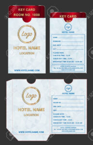 Hotel Key Card Holder Folder Package Template Design. within Hotel Key Card Template