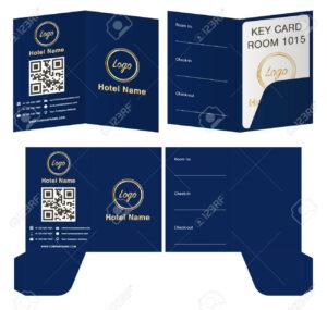 Hotel Key Card Holder Folder Package Template. for Hotel Key Card Template