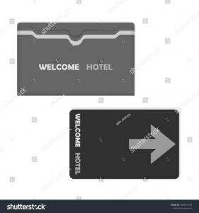 Hotel Key Card Keycard Sleeve Holder Stock Vector (Royalty with Hotel Key Card Template