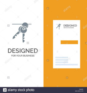 Hotel, Key, Room, Keys Grey Logo Design And Business Card intended for Hotel Key Card Template