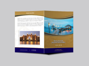 Hotel Resort Bi Fold Brochure Design Templatearun Kumar In Hotel Brochure Design Templates