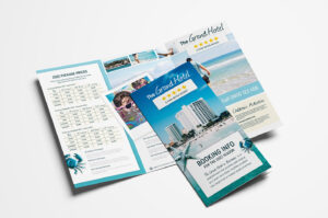 Hotel Tri Fold Brochure Template – Psd, Ai & Vector – Brandpacks Within Hotel Brochure Design Templates