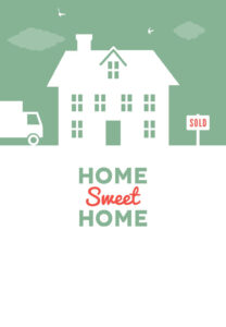 House And Birds – Free Printable Moving Announcement in Moving Home Cards Template