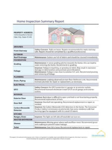 House Inspection Report Template Templates Form Home Format within Home Inspection Report Template Pdf
