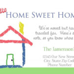 Housewarming Invitations Cards Free | Invitations Card Pertaining To Moving Home Cards Template