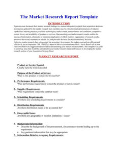 How A Market Research Benefits Your Business | Free For Market Research Report Template
