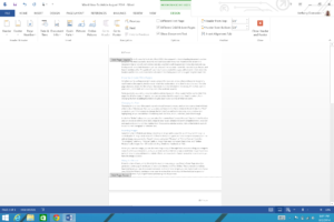 How To Add Page Numbers And A Table Of Contents To Word with regard to Contents Page Word Template