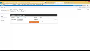 How To Build A Vacation Request Form Using The Sharepoint Forms Web Part Sharepoint Ams For Travel Request Form Template Word