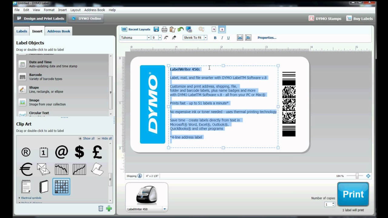 How To Build Your Own Label Template In Dymo Label Software? Within Dymo Label Templates For Word