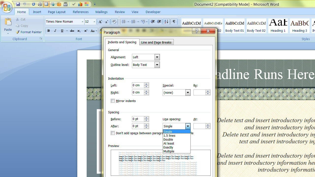 How To Change The Default Template In Microsoft Word Inside Change The Normal Template In Word 2010
