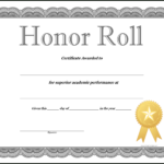 How To Craft A Professional-Looking Honor Roll Certificate in Honor Roll Certificate Template