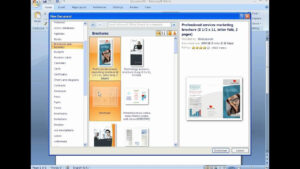How To Create A Brochure With Microsoft Word 2007 in Brochure Templates For Word 2007