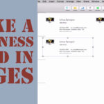 How To Create A Business Card In Pages For Mac (2014) Within Pages Business Card Template