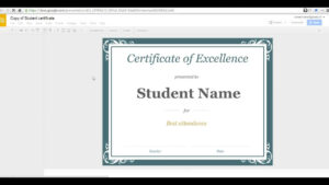 How To Create A Certificate In Google Slides inside Choir Certificate Template
