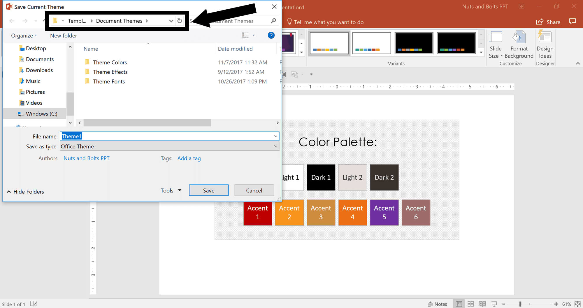 How To Create A Custom Powerpoint Theme with Save Powerpoint Template As Theme