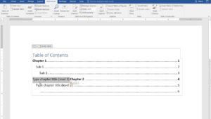 How To Create A Manual Table Of Contents In Word 2016 throughout Contents Page Word Template