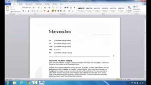How To Create A Memo In Microsoft Word 2010 regarding Memo Template Word 2010